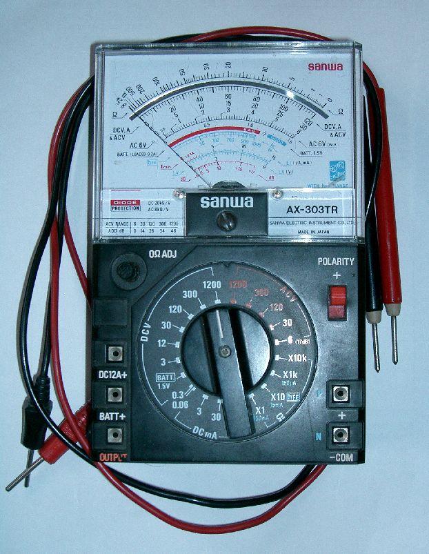 Analog Meter Schematic : Analog multimeters