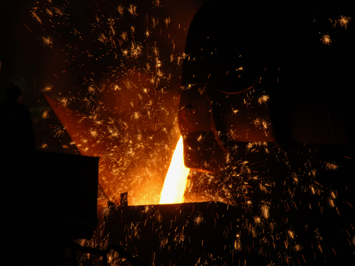 metal casting process Metal casting and foundry production  casting is the process from which solid metal shapes (castings) are produced by filling voids in molds with liquid metal.