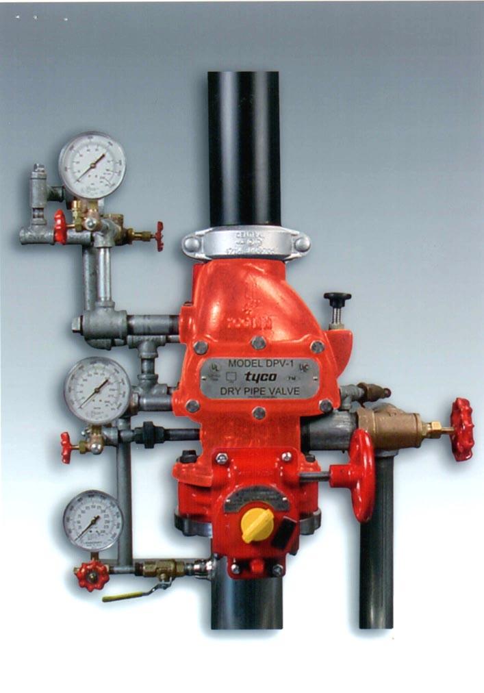 Dry alarm valve