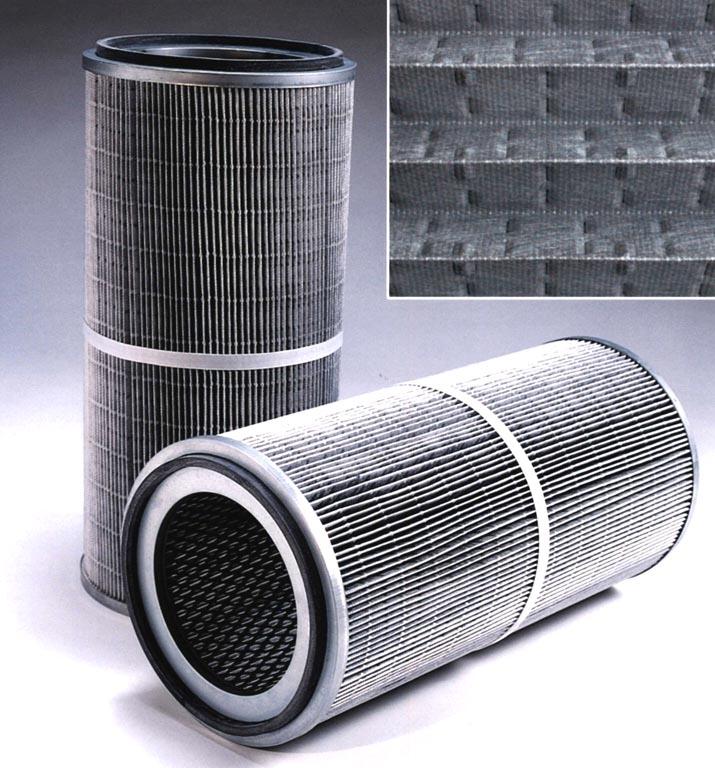 Cartridge Filter has larger filter area.