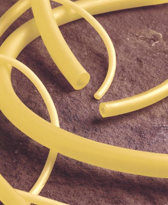 Natural latex rubber tubing