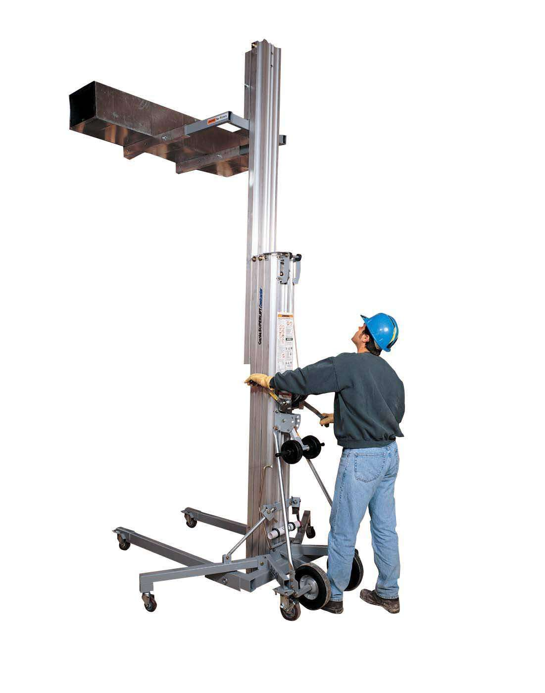 Hydraulic Material Lift : Portable material lift for construction and industrial