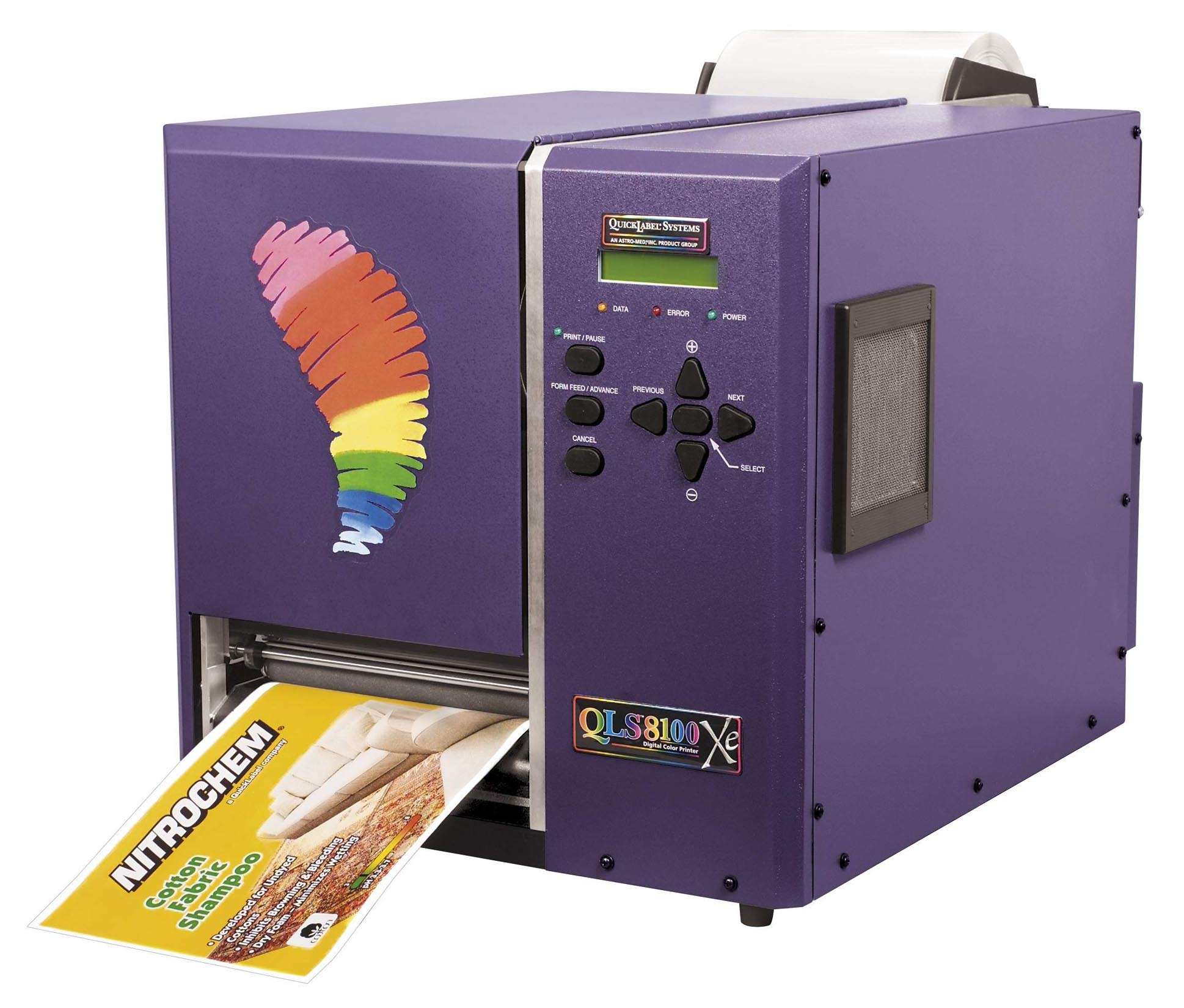Label Printer allows various in-house color applications.