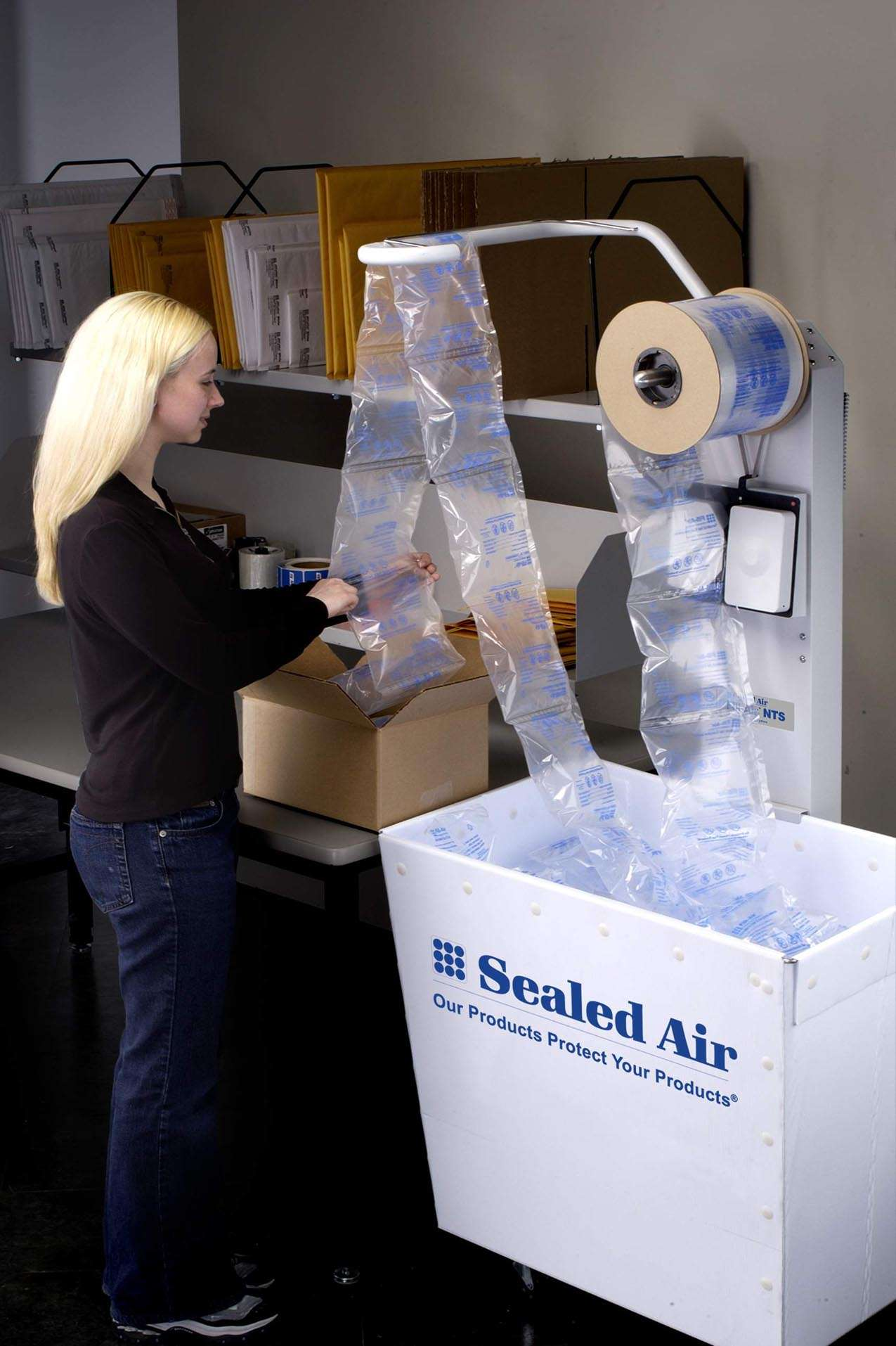 The Fill Air Tm Nts Inflatable Packaging System From