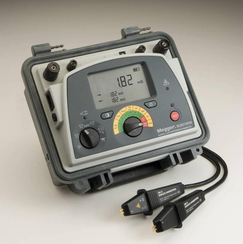 Digital Low Resistance Ohmmeters : Digital low resistance ohmmeters from megger test
