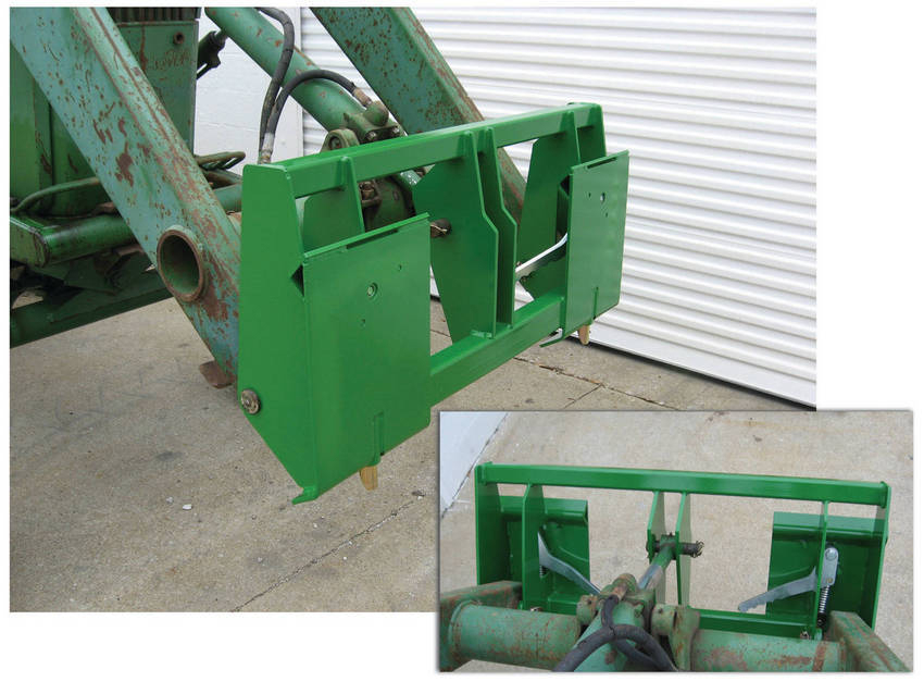 Tractor Loader Adapters : New skid steer adapter for john deere tractors loaders
