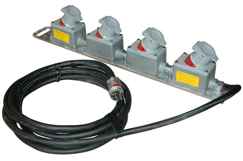 Electronic Extension Cords : Larson electronics adds five outlet explosion proof