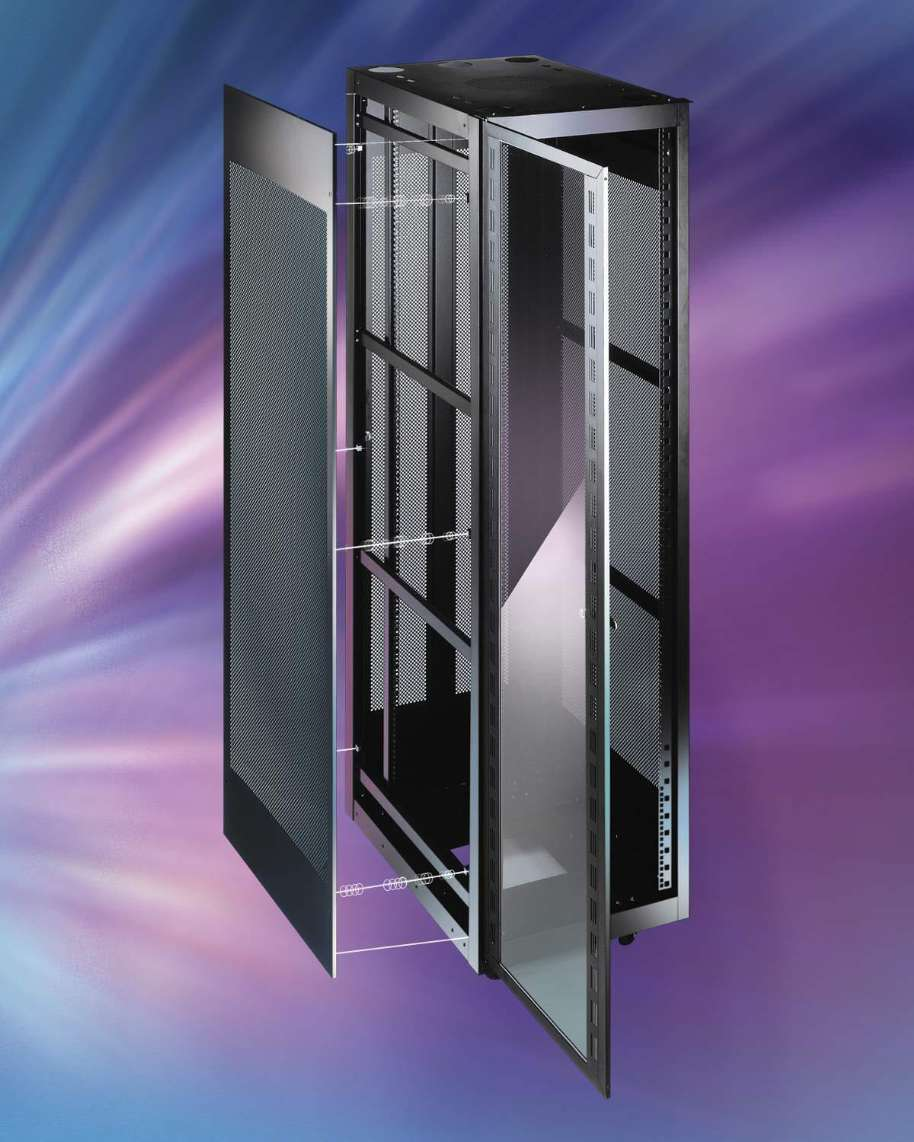 Server cabinets feature 36 and 43 in dimensions