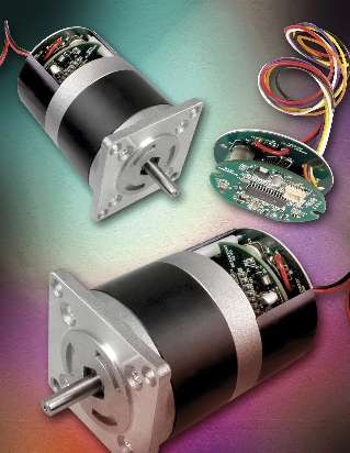 Brushless DC Motor features integrated drive.