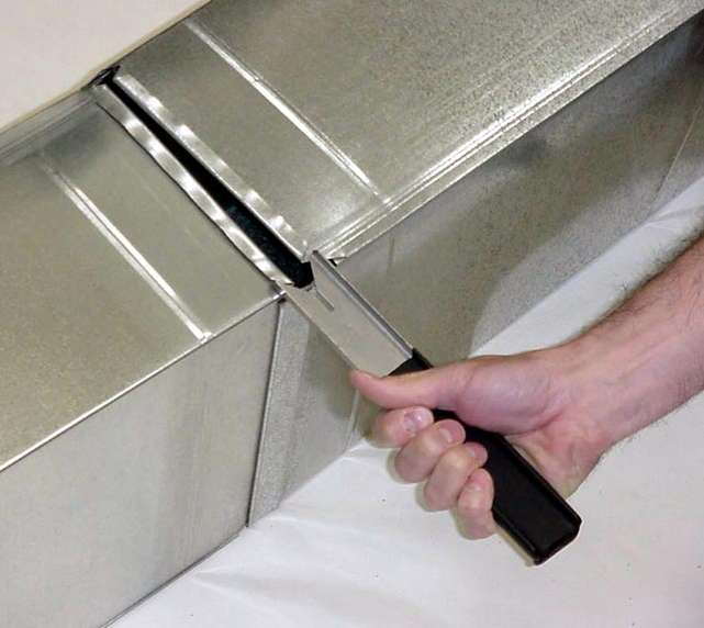Hvac Duct Tools : Klenk tools new duct pincher makes hanging ductwork easier