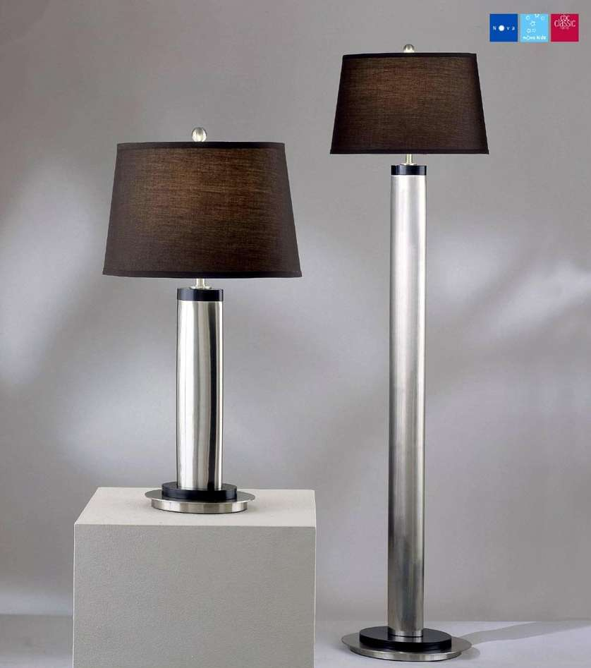 floor lamps table on table and floor lamps feature contemporary design. Black Bedroom Furniture Sets. Home Design Ideas