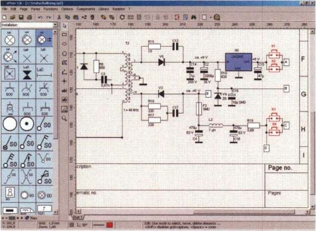 Free electronic circuit diagram/schematic drawing software- | electronics circuit diagram software