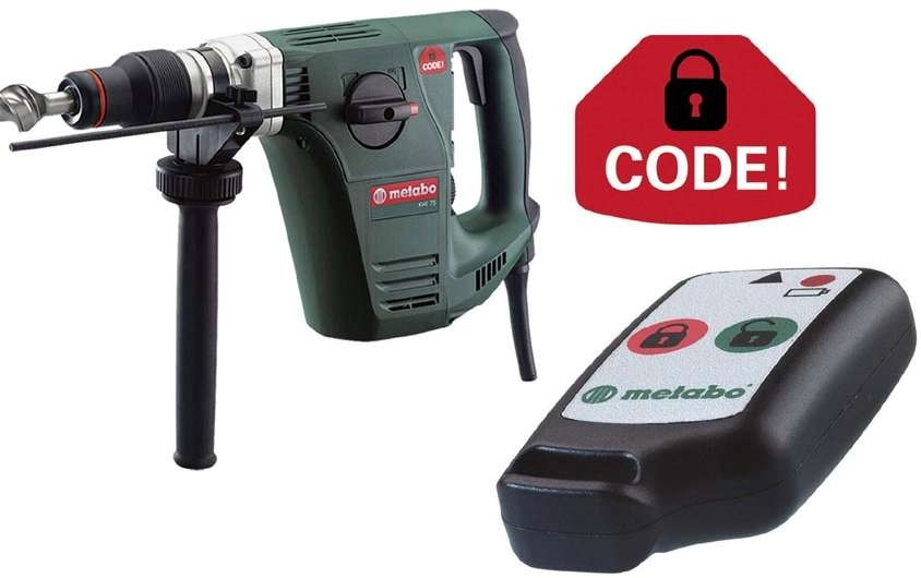 April 19, 2005 - Rotary hammers utilize CODE! anti-theft protection system, which operates via one-touch IR remote control to protect tools against unauthorized