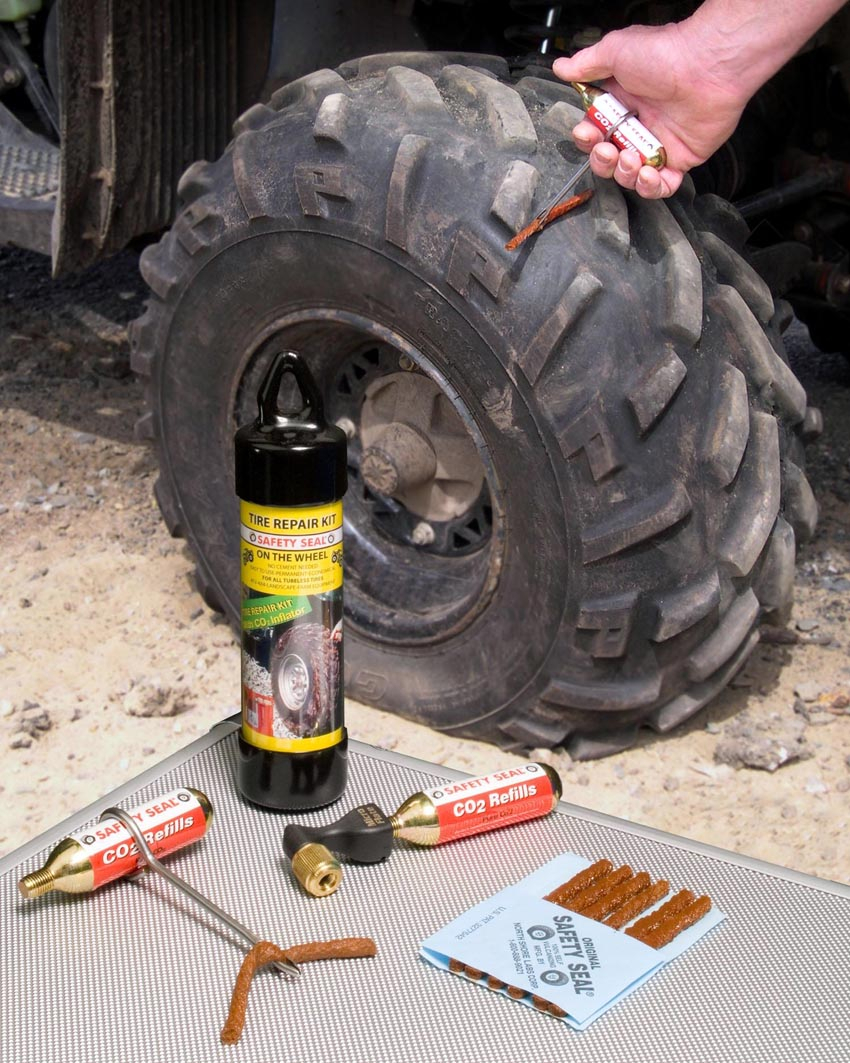 Emergency Tire Repair Kit Fixes Small Tires On-The-Wheel ...