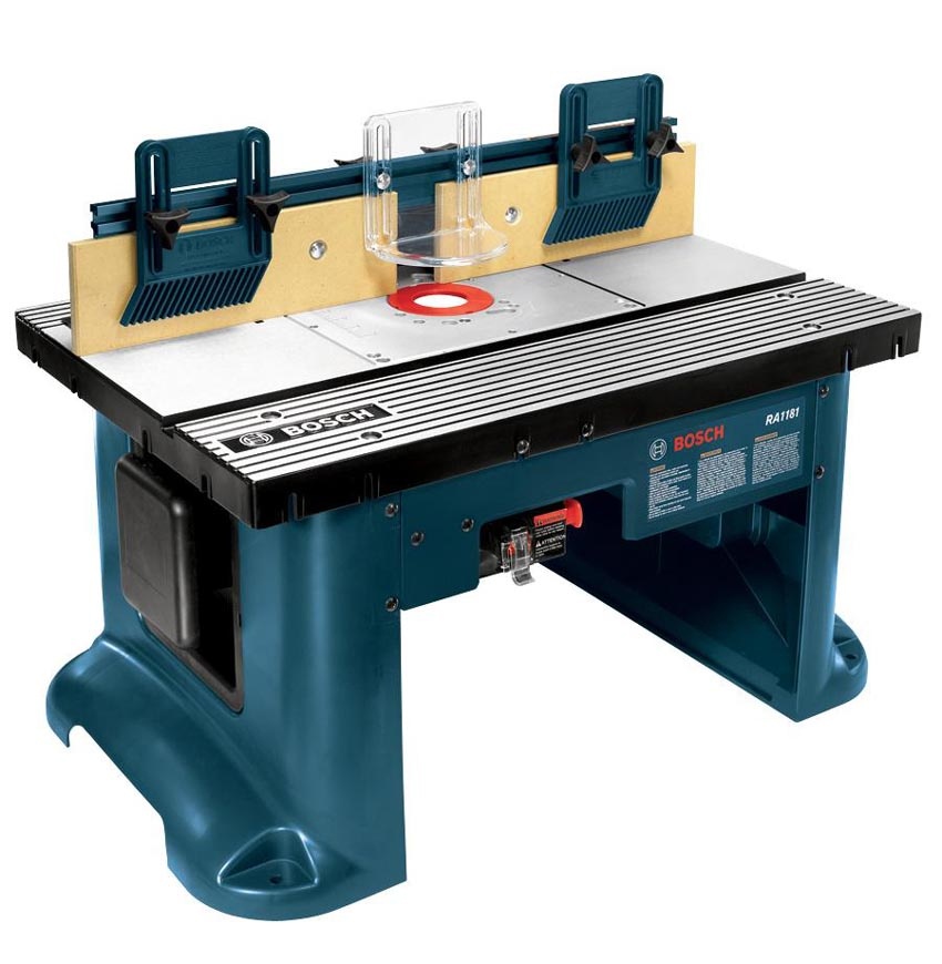 New bosch ra1181 benchtop router table tough and simple enough for Router work table