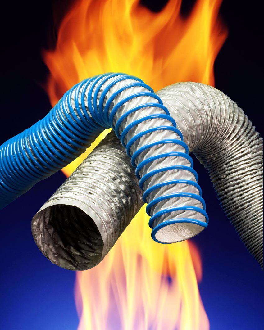 High temperature hose extremely flexible and compressible