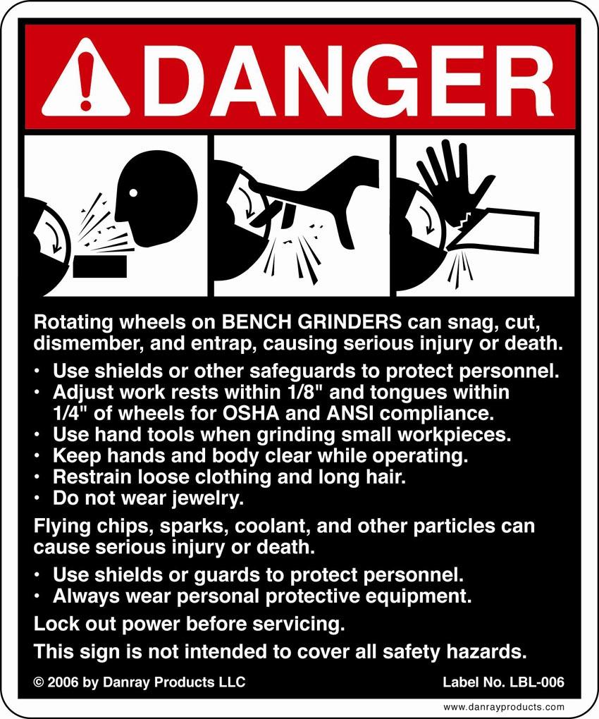 Delightful Bench Grinder Safety Scale Part - 10: Bench Grinder Safety Bench Grinder Safety Signs