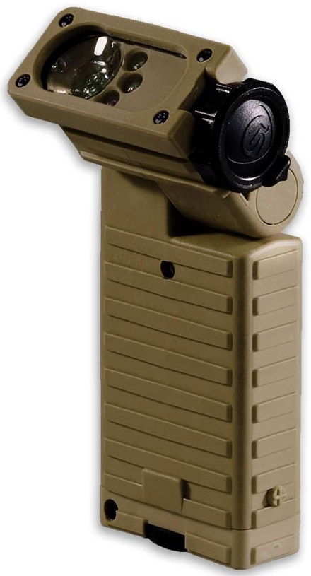 Right-Angle LED Flashlight features 20 functions.