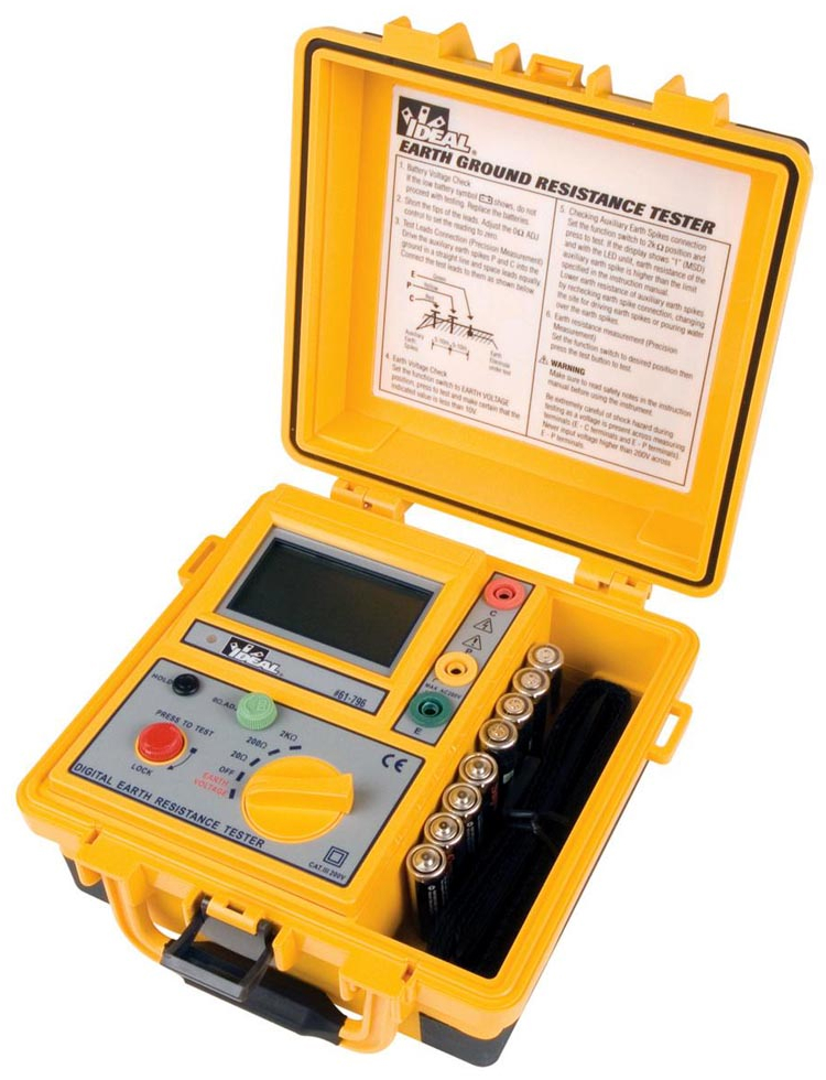 Ground Impedance Tester : Ideal introduces earth ground resistance tester