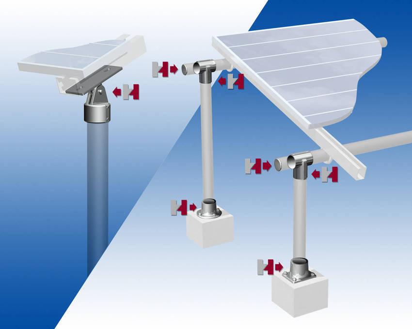 Hollaender speed rail makes solar panel installation