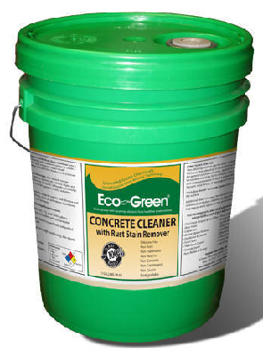new eco green concrete cleaner with rust stain remover