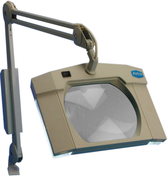 magnifying lamp from aven assures sharp close ups for precision work. Black Bedroom Furniture Sets. Home Design Ideas