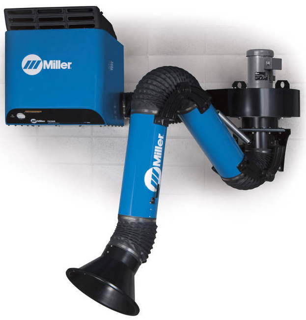 Welding Fume Extraction Systems : Miller introduces wall mounted fume extractors to improve