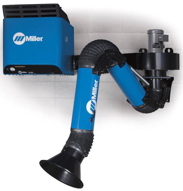 Wall Mount Welding Fume Extractor : Miller introduces wall mounted fume extractors to improve