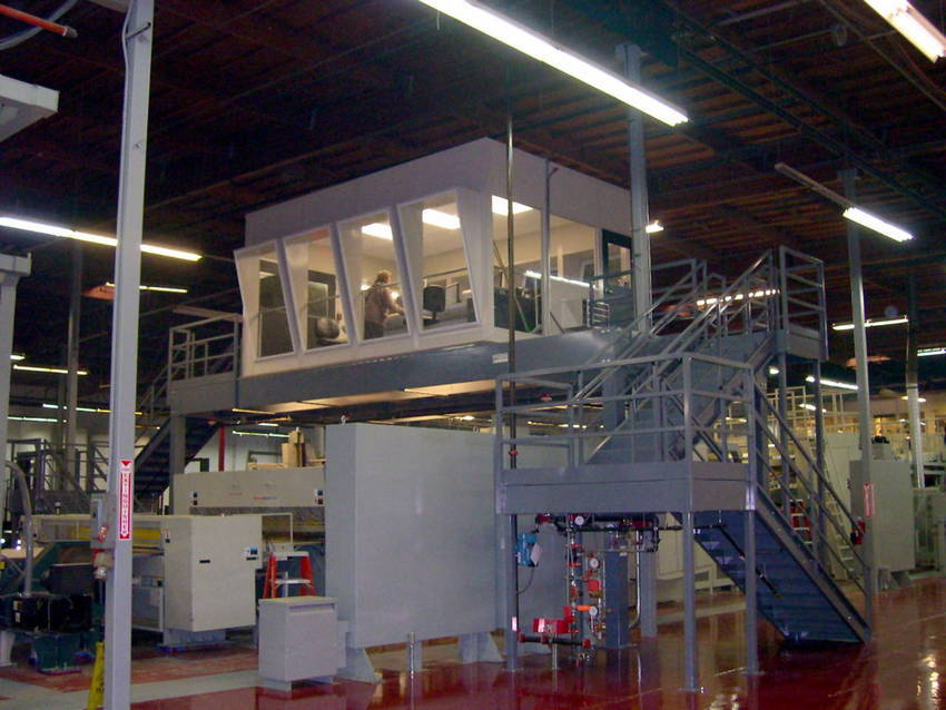 Cubic Designs Mezzanine : Mezzanine elevates operator control room at alliance packaging