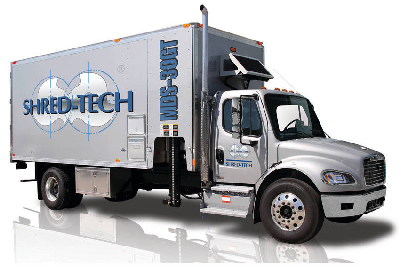 shred tech 39 s newest mobile shredding truck is one of the most powerful in its class. Black Bedroom Furniture Sets. Home Design Ideas