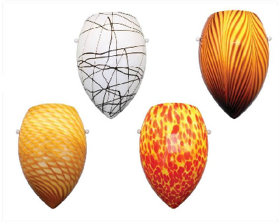 Green product news - Wall Sconces feature handblown glass shades ...