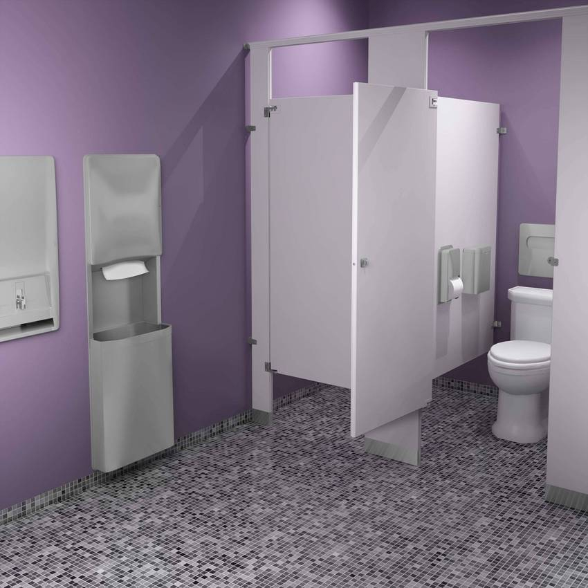 Bradley 39 s diplomat washroom accessories designed with for Washroom design