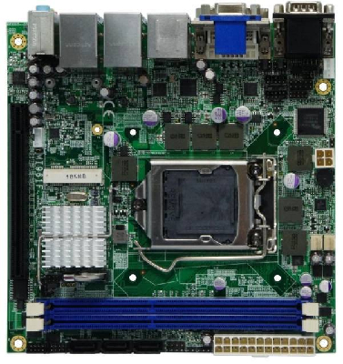 Mini-ITX Motherboard supports Intel® H61 PCH chipset.