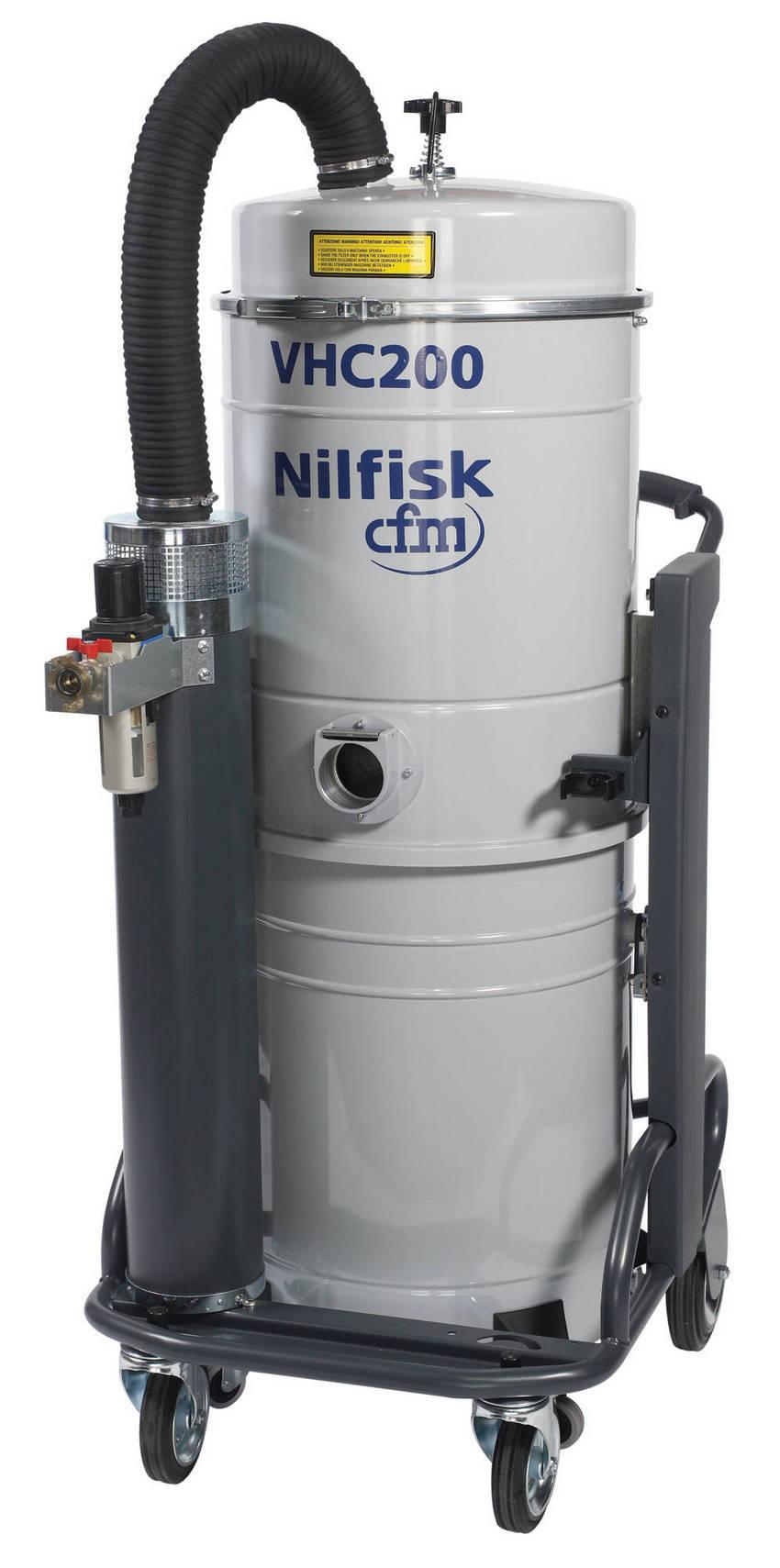 Air Powered Vacuum : Nilfisk industrial vacuums releases new air operated