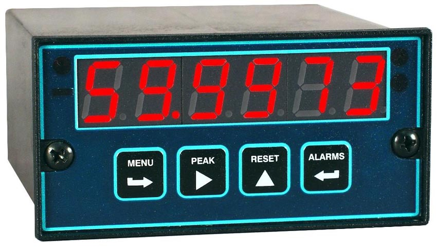 60 Hertz Frequency Meter : Digit panel meter takes rate and frequency