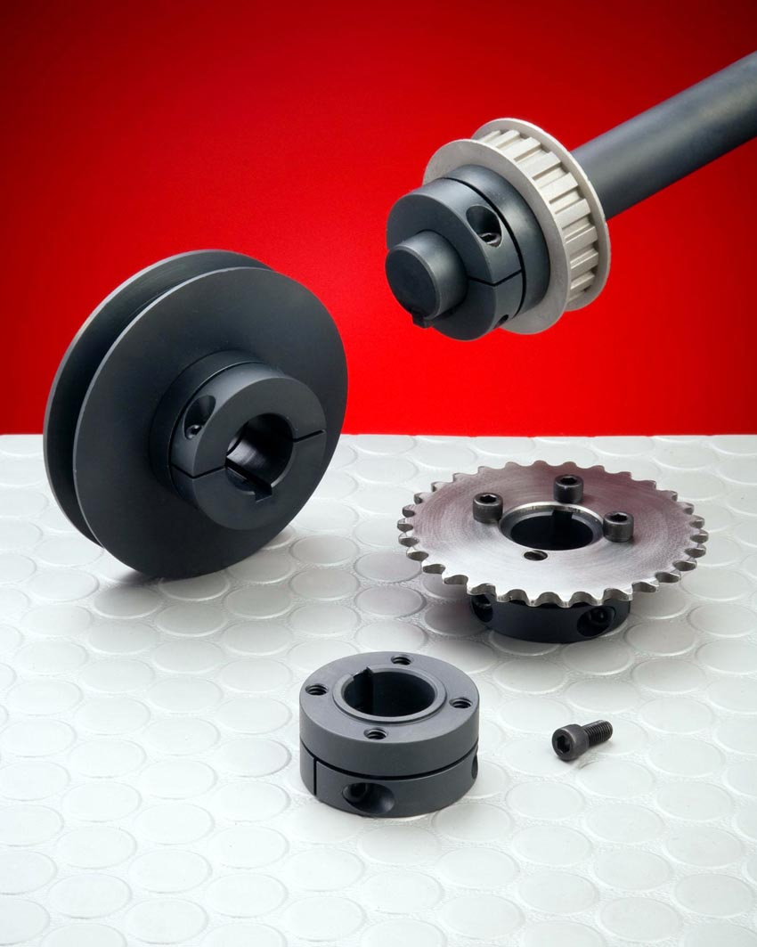 Mounting shaft collar secures components and adjusts easily