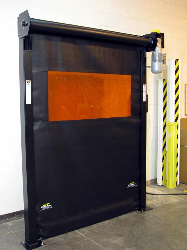 Slim Line Tm Roll Up Safety Barrier Door Protects