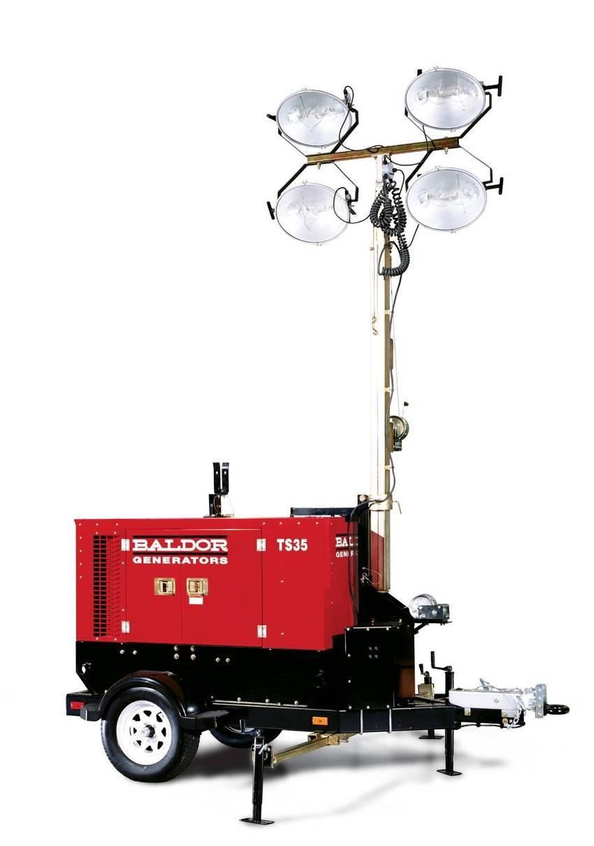 Portable Electric Lights : Baldor offers light tower kit