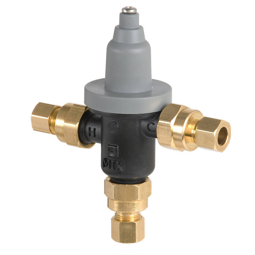 Industrial Thermostatic Mixing Valve: Bradley Introduces First Available Lead-Free 3/8