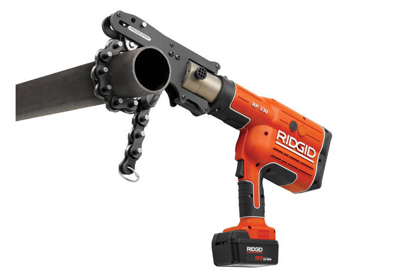 New ridgid press snap tm soil pipe cutter provides fast
