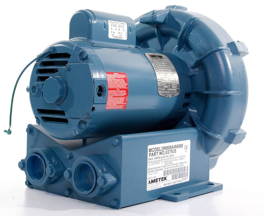 Commercial Air Blowers : Rotron regenerative blowers for commercial spa agitation