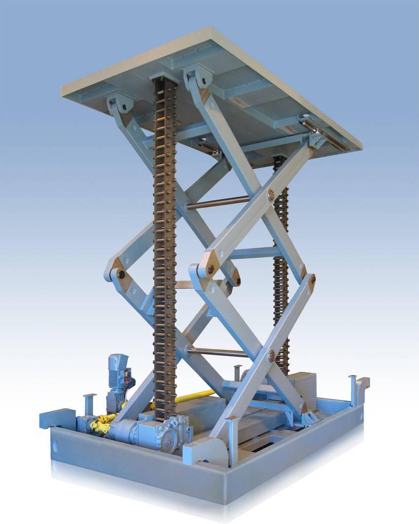 large mechanical scissor lift platform provided by serapid. Black Bedroom Furniture Sets. Home Design Ideas