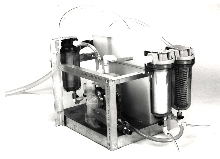 Pump/Separator removes oil from water.