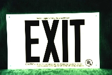 Exit Signs meet UL, NFPA 101 regulations.