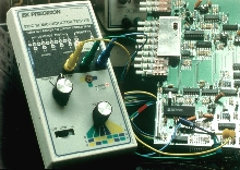 Transistor Tester has front-panel mounted LEDs.