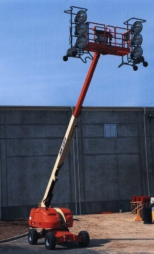 Power System incorporates lighting into boom lifts.