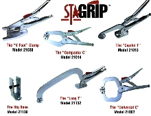 Plier Clamps offer 3rd hand for single-hand operation.