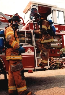 Low Profile SCBA is designed for fire industry.