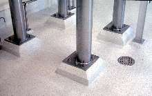 Floor and Wall System minimizes growth of mold and bacteria.