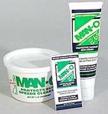 Barrier Creams protect hands from harmful chemicals.